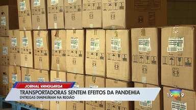 Transportadoras sentem efeito da pandemia com queda no faturamento - Veja a reportagem.