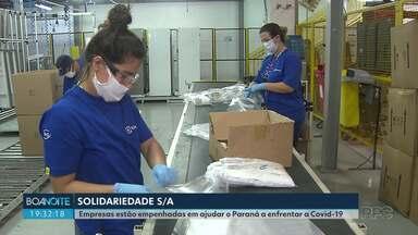 Conheça mais empresas que estão ajudando os paranaenses durante a pandemia - Boa Noite Paraná está dando os nomes de empresas e empresários que estão ajudando o governo e a população durante a pandemia
