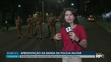 Banda da PM alegra londrinenses durante a pandemia - Banda tocou nesta quarta (29) na Gleba Palhano