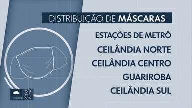 Distribuição de máscaras à população começa nesta quinta-feira (30/04) - Vão ser 2 unidades por pessoas. E os locais de distribuição vão ser em terminais de ônibus e em estações de metrô.
