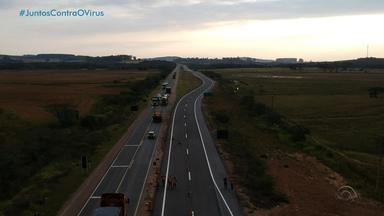 BR-116 tem mais um trecho de cinco quilômetro duplicados - Obras foram realizadas pelo exército e trecho liberado fica na Barra do Ribeiro.