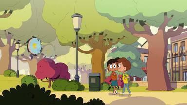 O Bebê Dragão - Dado e Malika notam alguns arbustos queimados no parque, levando-os a ... um bebê dragão! Parece que sua mãe o abandonou, então Dado decide adotá-lo.