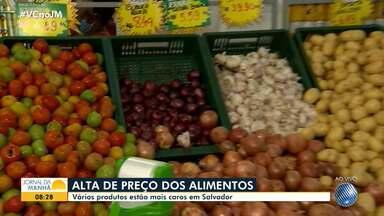 Aumento de preços de alimentos básicos pesam no orçamento do consumidor baiano - Frutas, verduras e hortaliças estão sofrendo o impacto da pandemia de coronavírus.