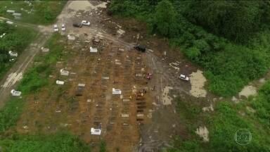 Amapá registra a maior taxa de incidência de Covid-19 no país - São mais de mil casos e 34 mortes. Um dos cemitérios da capital ganhou duas áreas exclusivas para enterrar casos suspeitos e vítimas da Covid-19. A primeira já está lotada.