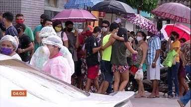 Emergências de hospitais de Belém (PA) têm filas - Casos de coronavírus estão crescendo no Pará.