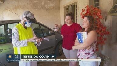 Profissionais iniciam coleta de amostras para mapear coronavírus em Ribeirão Preto - Visita começou pelos bairros Ipiranga e Vila Virginia. Todas as regiões da cidade serão visitadas até domingo (3)