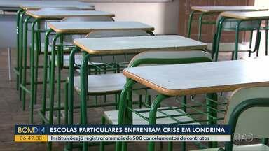 Escolas particulares de Londrina querem voltar às aulas - Instituições já registraram mais de 500 cancelamentos de contratos.