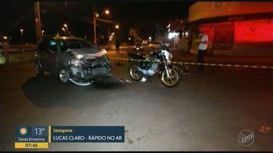Motorista com sinais de embriaguez atinge motocicleta e mata jovem em Limeira - Colisão foi na madrugada deste domingo (3), no Jardim São Paulo. Condutor foi preso após batida, e mulher de 19 anos morreu no local; outra pessoa na moto teve fratura na perna.