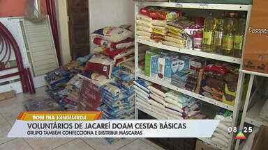 Voluntários de Jacareí doam cestas básicas - Grupo também confecciona e distribui máscaras.