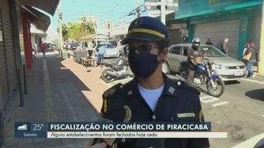 Coronavírus: estabelecimentos são fechados nesta segunda-feira em Piracicaba - Fiscalização nos comércios da cidade é intensificada como medida de combate à pandemia do novo coronavírus.
