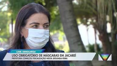Jacareí passa a obrigar uso de máscara a partir desta segunda - Medida vale inicialmente para bancos e instituições financeiras.