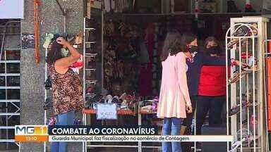 Combate ao Coronavírus: Guarda Municipal de Contagem faz fiscalização no comércio. - As atividades comerciais com potencial de aglomeração continuam suspensas por tempo indeterminado