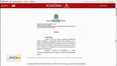 Justiça determina que apenas serviços essenciais funcionem em Rondônia - Posicionamento de representantes das Associações Comerciais do Estado.