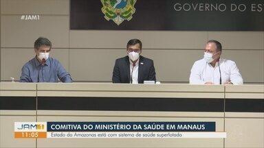 Ministro da Saúde se reúne com autoridades do Amazonas - Estado está com sistema de saúde superlotado.