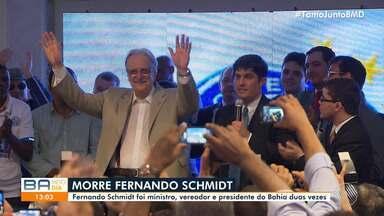 Morre o advogado Fernando Schmidt, ex-presidente do Esporte Clube Bahia - Ele estava internado há duas semanas, devido a complicações neurológicas.