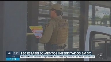 Polícia interdita 160 estabelecimentos em Santa Catarina - Polícia interdita 160 estabelecimentos em Santa Catarina