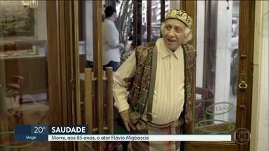 Morre o ator Flávio Migliaccio aos 85 anos - O boletim de ocorrência da Polícia Militar diz que a causa da morte teria sido suicídio.