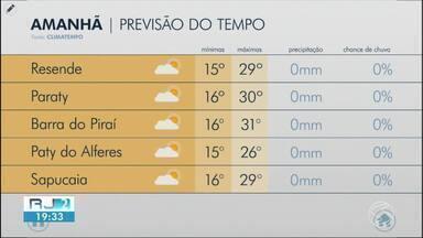 Terça-feira é de sol no Sul do Rio de Janeiro - Segundo a meteorologia, não há possibilidade de chuva.