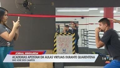 Academias apostam em aulas virtuais para se manterem ativas durante a quarentena - Confira reportagem do Jornal Vanguarda desta segunda-feira (4).