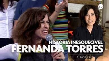 Fernanda Torres relembra canção atrapalhada no Altas Horas - A atriz recorda de uma edição especial do programa, gravado diretamente do Morro da Urca na cidade do Rio de Janeiro.