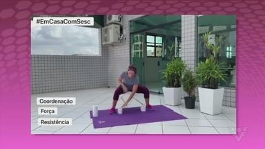 Nayara Gandra passa instruções de como se exercitar com utensílios domésticos - Confira as dicas da educadora física do Sesc Santos no vídeo.
