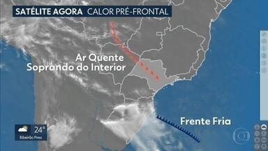Previsão de chuva para esta quarta-feira (6) - Temperatura mínima nas manhãs da capital está variando entre 13° e 15°.