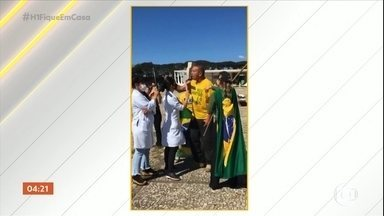 MP pede que polícia investigue agressões a enfermeiros e jornalistas durante manifestações - MP pede que polícia investigue agressões a enfermeiros e jornalistas durante manifestações que aconteceram em Brasília, no Distrito Federal. Empresária xingou enfermeiros durante manifestação.