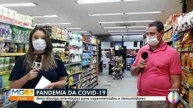 Amis divulga orientações para supermercados evitar propagação do coronavírus - Mesmo com a pandemia da Covid-19 serviços essenciais como os de supermercados não foram paralisados, mas o setor precisou adotar medidas para evitar a transmissão do novo coronavírus. Medidas que afetaram funcionários e também consumidores.