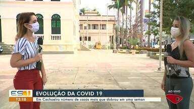 Em Cachoeiro de Itapemirim, ES, número de casos de Covid-19 mais que dobrou em uma semana - Veja a evolução da doença no sul do ES.