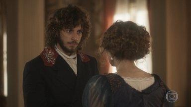 Leopoldina pede que Joaquim mantenha seu Pedro longe do palácio - A princesa pede ajuda a Joaquim para ganhar tempo até que receba a resposta de José Bonifácio