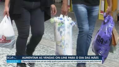 Aumentam as vendas online para o Dia das Mães - Pesquisa revela que um em cada quatro paranaenses vai comprar presente pela internet.