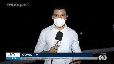 Aumenta o número de casos e mortes da Covid-19 no Tocantins - Aumenta o número de casos e mortes da Covid-19 no Tocantins