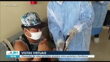Vídeochamadas aproximam familiares de parentes com Covid-19 no Hospital Abelardo Santos - Hospital passou a atender como pronto-socorro pacientes com suspeitas de Covid-19.