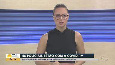 Sobe para 46 o número de policiais infectados pela Covid-19 em Alagoas - O último boletim divulgado pela PM apresentou ainda que outros 211 policiais estão com suspeita da doença.
