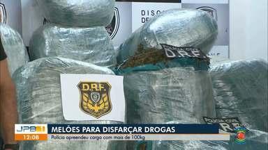 Polícia apreende drogas em carga de melões - Operação apreendeu mais de 100kg de maconha.