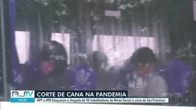 MPT e MPE bloqueiam a chegada de 90 trabalhadores de Minas Gerais a usina de São Francisco - Segundo o Ministério Público do Trabalho, a usina, que receberia os trabalhadores, não tinha plano de contingenciamento que considerava a pandemia do novo coronavírus.