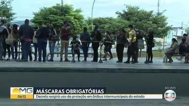 População terá que usar máscaras nos ônibus - Decreto exigirá uso da proteção em ônibus intermunicipais do estado