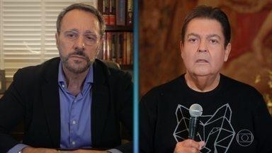 Dr. Dante Senra conversa com Faustão sobre o coronavírus - Cardiologista esclarece dúvidas sobre a doença
