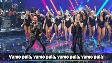 Sandy & Junior e Rouge cantam grandes sucessos no Domingão - Confira!