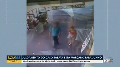 Julgamento da morte de Tábata está marcado para junho - A criança, de 6 anos, estava no caminho da escola, sumiu e o corpo foi encontrado no dia seguinte.