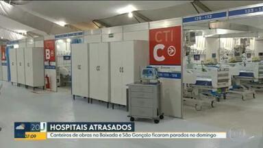 Três hospitais de campanha para tratamento da Covid-19 estão prontos - A promessa original era que todos os hospitais de campanha do estado fossem inaugurados até 30 de abril. No domingo (10), canteiros de obras estavam parados.
