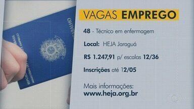 Confira oportunidades de emprego em Goiás - Há vagas para técnicos em enfermagem em hospital de Jaraguá.