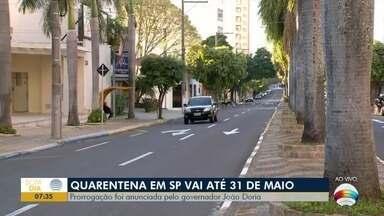 Quarentena segue até 31 de maio em todo o Estado de São Paulo - Confira as últimas notícias sobre a pandemia.