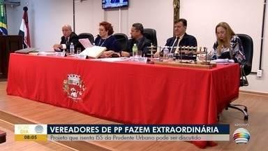 Sessão extraordinária pode debater isenção de ISS para empresa - Reunião é na tarde desta segunda-feira (11), em Presidente Prudente.