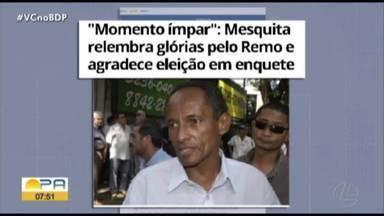 Mesquita relembra carreira e glórias pelo time do Remo - Em enquete, o ex-jogador foi escolhido como o principal meia-atacante do time.