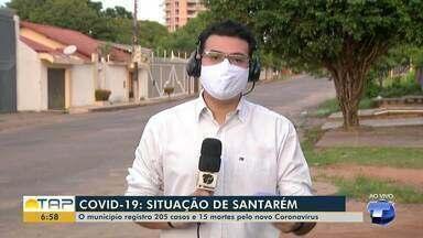 Santarém chega a 205 casos da Covid-19 - Prefeitura divulga boletim epidemiológico e mais seis novos casos são confirmados. Já são 15 óbitos pela doença no município.