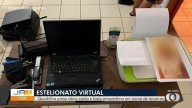 Quadrilha é presa suspeita de aplicar golpes pela internet, em Goiânia - Segundo a polícia, quatro pessoas são suspeitas de abrir contas virtuais e fazer empréstimos em nome de terceiros.
