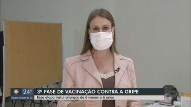 Começa nesta segunda-feira a terceira fase de vacinação contra a gripe em Araraquara - Etapa inclui imunização de crianças de seis meses a seis anos de idade.