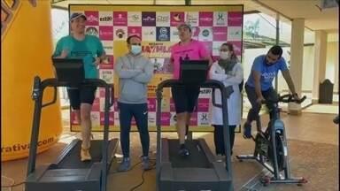 Atleta de Assis completa 24 horas de triatlo solidário - O triatleta correu, nadou e pedalou durante 24 horas em um hotel da cidade com objetivo de arrecadar donativos para ajudar famílias carentes de Assis.