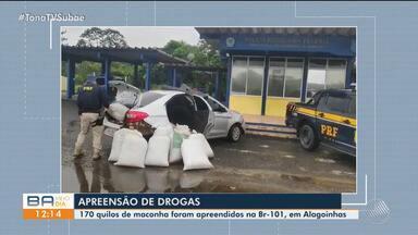 170 Kg de maconha é apreendido em carro na BR-101, perto de Alagoinhas - Confira.